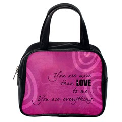 Love Is In The Air   Bag By Carmensita   Classic Handbag (two Sides)   Zw5ebel6o5fb   Www Artscow Com Back