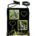 Key Lime Sling Bag on Black - Shoulder Sling Bag