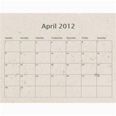 Classic Coffee & Creme Calendar 2012 By Catvinnat   Wall Calendar 11  X 8 5  (12 Months)   Nlinxq9dn4x0   Www Artscow Com Apr 2012