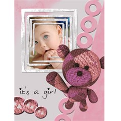 "It s A Girl    4 5"" X 6"" Greeting Cards By Carmensita   Greeting Card 4 5  X 6    Op0yi7zen246   Www Artscow Com Front Cover"