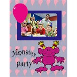 "MONSTER PARTY INVITAION girl -  4.5"" x 6"" Greeting Cards - Greeting Card 4.5  x 6"