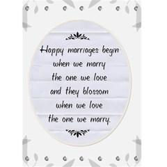 Wedding Card #1 By Lil    Greeting Card 5  X 7    Kmmcr0ipfkiw   Www Artscow Com Back Inside