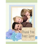 thank you card - Greeting Card 5  x 7