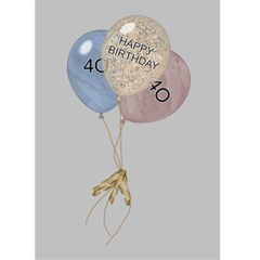 40th Birthday Card By Lil    Greeting Card 5  X 7    Qhlyo2zdu309   Www Artscow Com Back Inside