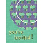 Cupcake Birthday Invitation 2 5x7 Greeting Card - Greeting Card 5  x 7