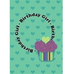 Birthday Girl 5x7 Greeting Card - Greeting Card 5  x 7