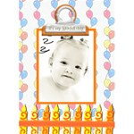 birthday card template - Greeting Card 5  x 7