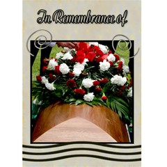Funeral Template Card  Sympathy By Danielle Christiansen   Greeting Card 5  X 7    Dtzwfzoyicbg   Www Artscow Com Front Cover