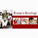 Season s Greetings Red and White holiday photocards - 4  x 8  Photo Cards