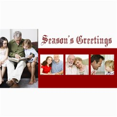 Season s Greetings Red And White Holiday Photocards By Angela   4  X 8  Photo Cards   0v8xn5fcf2h9   Www Artscow Com 8 x4 Photo Card - 8