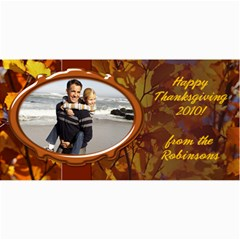 Personalized Thanksgiving Photo Cards By Angela   4  X 8  Photo Cards   R2j0x7unbxwt   Www Artscow Com 8 x4 Photo Card - 1