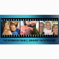 Blue Filmstrip 3 Photos Cards By Angela   4  X 8  Photo Cards   Gmh9fma1o9cq   Www Artscow Com 8 x4 Photo Card - 3