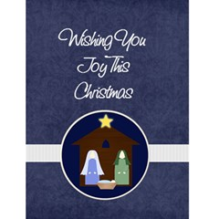 Starry Night Christmas Card By Mim   Greeting Card 4 5  X 6    Hdoz1thfm1p6   Www Artscow Com Front Cover