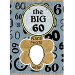 60th Birthday Card - Greeting Card 5  x 7