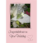 Swirls & Hearts Wedding Card - 1 - Greeting Card 5  x 7