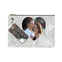 Wedding Cosmetic Case By Lil    Cosmetic Bag (large)   Ud4yr2jtj3g6   Www Artscow Com Front