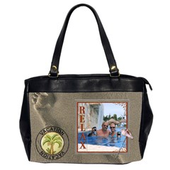 Vacation Bag By Lil    Oversize Office Handbag (2 Sides)   Rca1whdchrph   Www Artscow Com Front