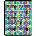 Stripes & Sweethearts Blanket - Medium - Fleece Blanket (Medium)
