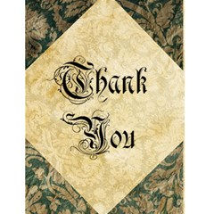Vintage Wallpaper Thank You By Redhead Scraps   Greeting Card 4 5  X 6    Qufn1ze91zap   Www Artscow Com Front Cover