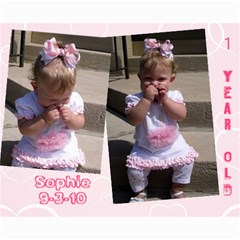 Sophie s 1st Birthday Photos By Erin Knowles   Collage 8  X 10    Ntrmf35za30a   Www Artscow Com 10 x8 Print - 3