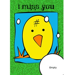 I Miss You   Custom Greeting Card 5  X 7  By Carmensita   Greeting Card 5  X 7    X4euk4rqywnj   Www Artscow Com Front Cover