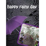 RAINY DAY - Custom Greeting Card 5  x 7