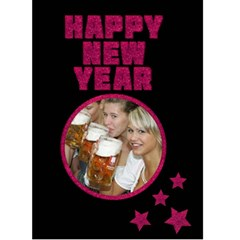Happy New Year Pink   Custom Greeting Card 5  X 7  By Carmensita   Greeting Card 5  X 7    Fm649zvlb1ae   Www Artscow Com Front Cover