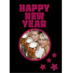 HAPPY NEW YEAR pink - Custom Greeting Card 5  x 7