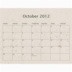 Classic Coffee & Creme  12 Month Calendar 2012 By Catvinnat   Wall Calendar 11  X 8 5  (12 Months)   Om56s8ap7rp6   Www Artscow Com Oct 2012