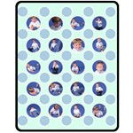 Little Boy Polka Dot Blanket - Medium - Fleece Blanket (Medium)