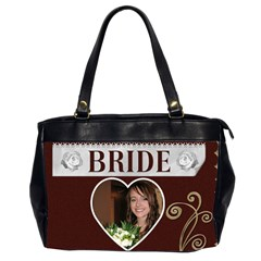 Bride & Groom Bag By Lil    Oversize Office Handbag (2 Sides)   8v4m40jf0hwl   Www Artscow Com Front