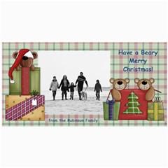 Bear Merry Christmas Photo Cards By Angela   4  X 8  Photo Cards   Qb5j2fznmn5u   Www Artscow Com 8 x4 Photo Card - 6