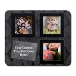 Classic Black Photo Mousepad - Large Mousepad