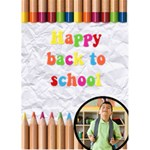 HAPPY BACK TO SCHOOL - Custom Greeting Card 5  x 7