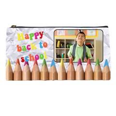 Happy Back To School   Pencil Case By Carmensita   Pencil Case   Tigj0aafncj4   Www Artscow Com Front