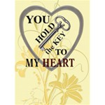 Key To My Heart Card - Greeting Card 5  x 7