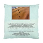 Footprints in the Sand 1 sided Cushion - Standard Cushion Case (One Side)