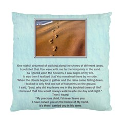 Footprints In The Sand 2 Sided Cushion By Catvinnat   Standard Cushion Case (two Sides)   Bg39u96ht21m   Www Artscow Com Front