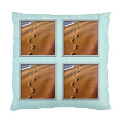 Footprints In The Sand 2 Sided Cushion By Catvinnat   Standard Cushion Case (two Sides)   Bg39u96ht21m   Www Artscow Com Back