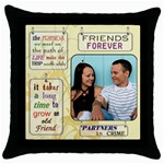 Friends Pillow - Throw Pillow Case (Black)