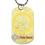 Rise & Shine Dog Tag-Sun - Dog Tag (One Side)