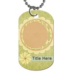 Rise & Shine Dog Tag-flower - Dog Tag (One Side)