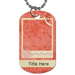 Blissfull Bella Dog Tag1 - Dog Tag (One Side)