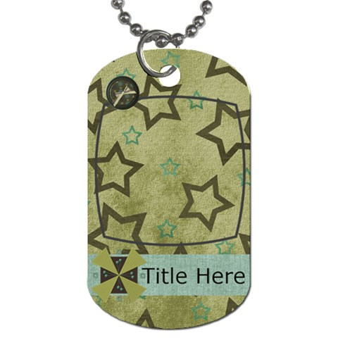 Simple Sam Dog Tag2 By Bitsoscrap   Dog Tag (one Side)   7e06sny88fbx   Www Artscow Com Front
