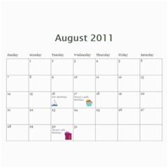 2011 For Grandpa By Elizabeth Marcellin   Wall Calendar 11  X 8 5  (12 Months)   Uut4xqhelj40   Www Artscow Com Aug 2011