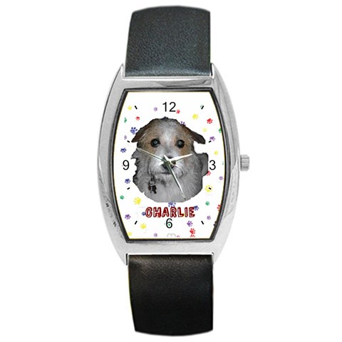 Charlieboy By Patty Hanson   Barrel Style Metal Watch   3b70bfmbszfz   Www Artscow Com Front