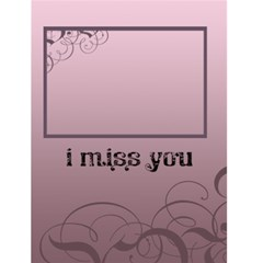 "I Miss You    4 5"" X 6"" Greeting Cards By Carmensita   Greeting Card 4 5  X 6    Ls4w5jdcrxnf   Www Artscow Com Front Cover"