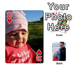 Cards By Catherine   Playing Cards 54 Designs   49q7qn615050   Www Artscow Com Front - Heart10