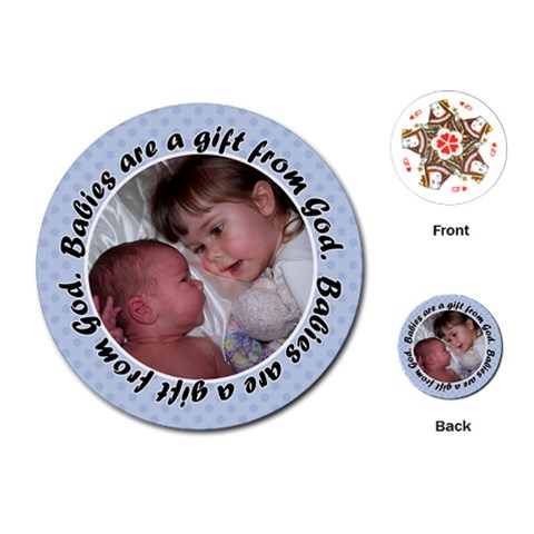 Round Baby Boy Quote Playing Cards By Klh   Playing Cards (round)   7192ws4dk37x   Www Artscow Com Front