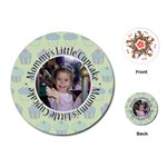 Round Cupcake Quote Playing Cards - Playing Cards (Round)